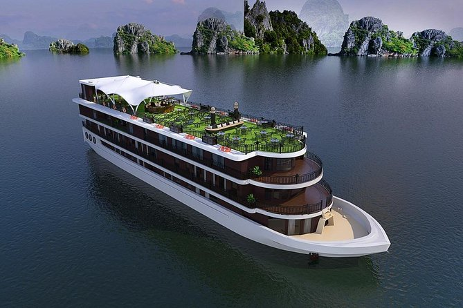 Halong bay Luxury Cruise 2D/1N: Surprise cave, Titop island, meals, best prices