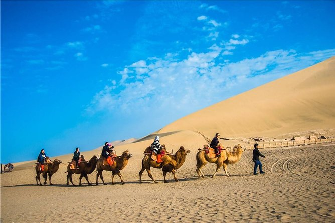 Private day tour to Dunhuang Grottoes &Mingsha sand dune and crescent moon lake