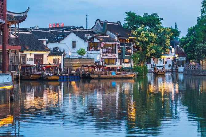 Private Day Tour to Zhujiajiao Water Town and Shanghai City Highlights