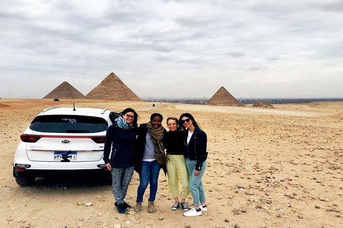 Visite guidée privée de 2jours pour les familles autour de Saqqarah, Dahchour, des pyramides de Gizeh, du musée égyptien et du Vieux Caire