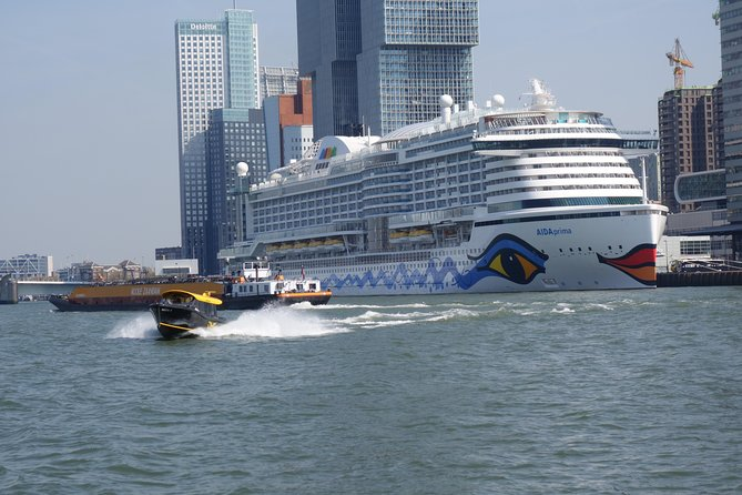 Private Rotterdam Harbor Bicycle tour with boat trip