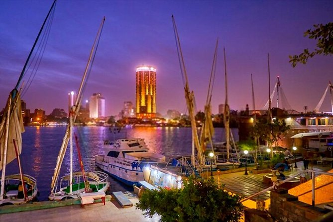 Felucca by Night in Cairo