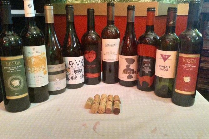 Wine tasting ancient and rare Greek varieties