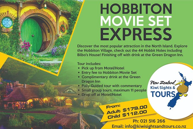 Tours starting in Rotorua - Hobbiton Express