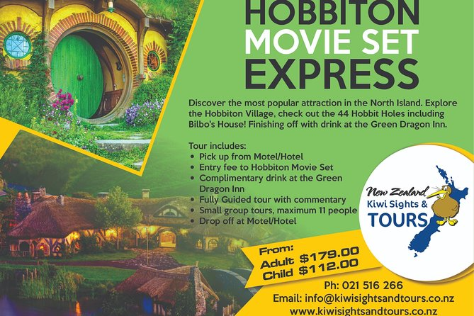 Tour starting in Auckland - Hobbiton Express