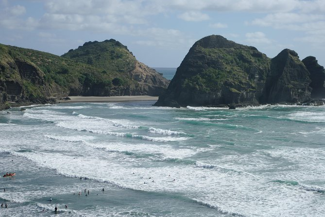 Small group - 4-5 people. Black sand and wine. Piha and Muriwai beach.