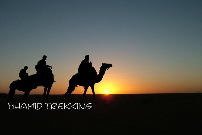 Hiking, Trekking in the desert in southern Morocco