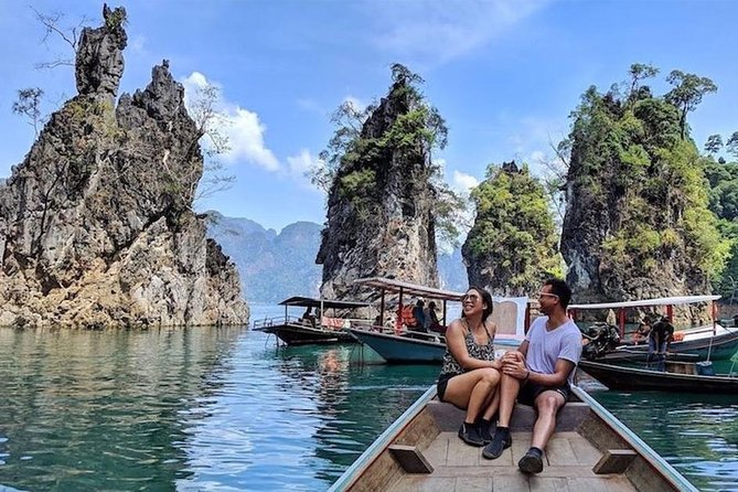 Khao Sok by Longtail Boat with Bamboo Rafting & Kayaking from Krabi