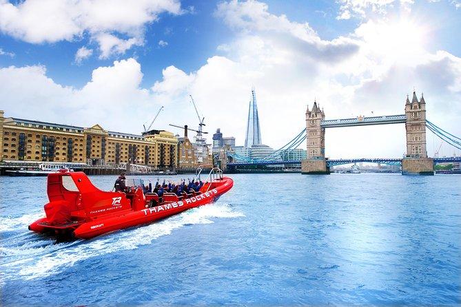 Croisière à grande vitesse sur la Tamise à Londres en bateau gonflable surpuissant