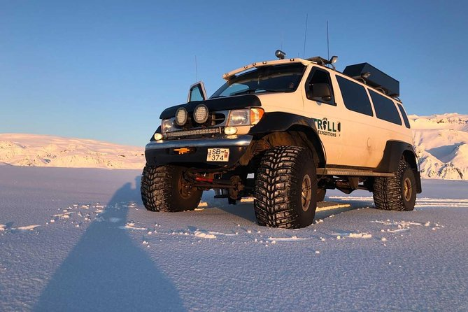 Dragon Glass Ice Cave by Katla Volcano Super Jeep Tour from Vik