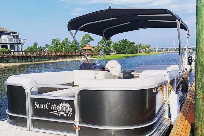 Very nice pontoon boats for rent on Hilton Head Island