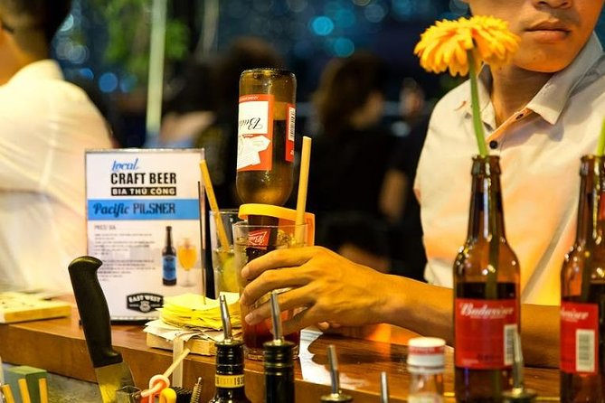 Beer and snacks in Ho Chi Minh City