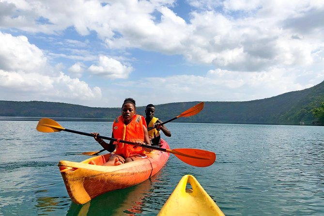 Kayaking adventures at Lake Chala