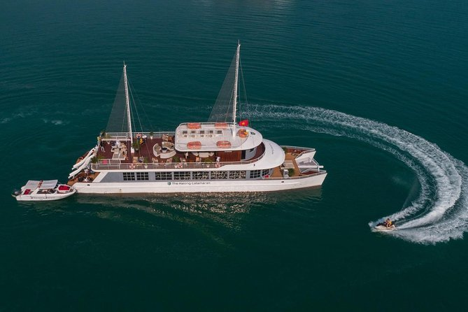 The Halong Catamaran - Top Luxury Day Cruise with FULL Activities, EXPRESS WAY