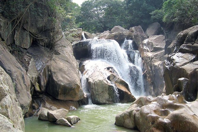 Ba Ho Waterfalls Half-Day City Tour with Private Transfer