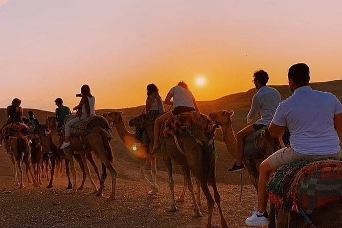 Camel Ride at Sunset in Agafay desert