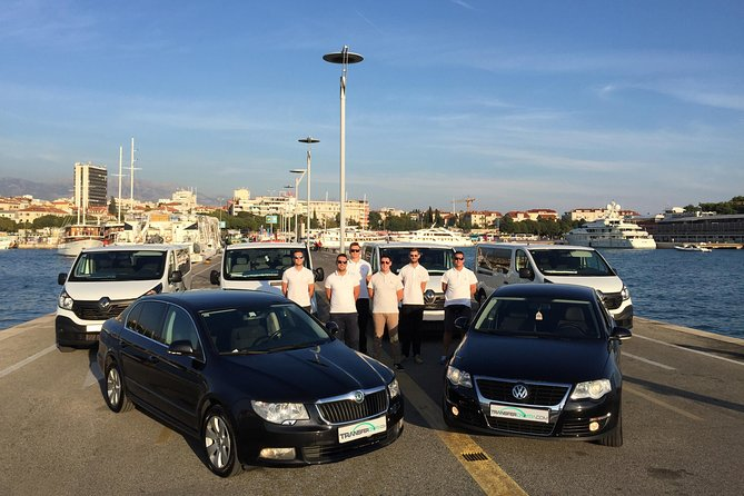 Split Airport to Bol, Brač island, private transfer with ferry tickets included