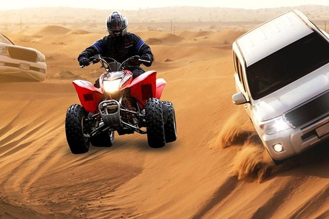 Morning Desert Safari with Quad Bike, Sand Boarding and Camel Ride