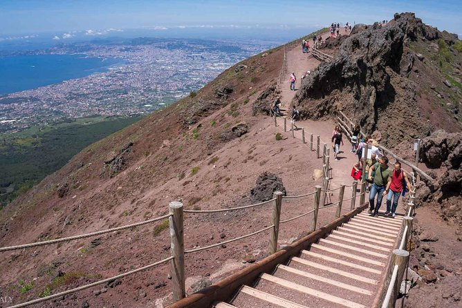 Mt Vesuvius, Pompeii & local wine tour from Naples