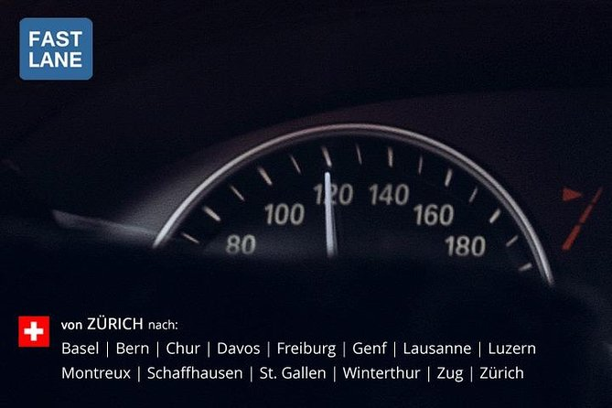Private transfer from Zurich to any location (see selection) in Switzerland