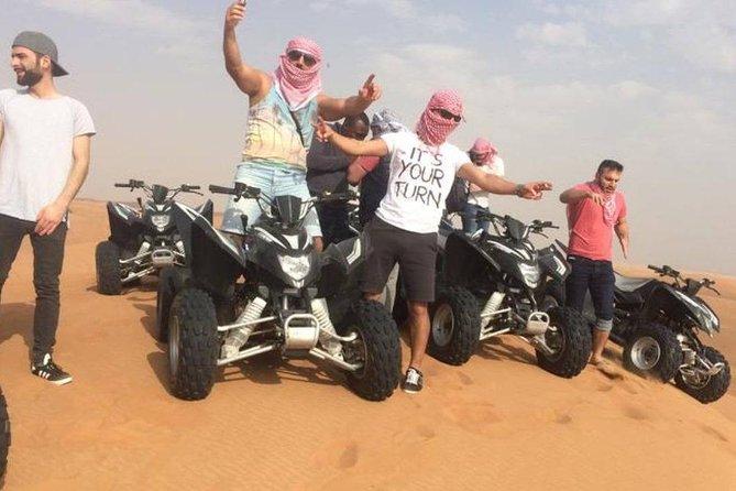 Dubai Desert 4x4 Dune Bashing, Quad ride Live Shows and Dinner