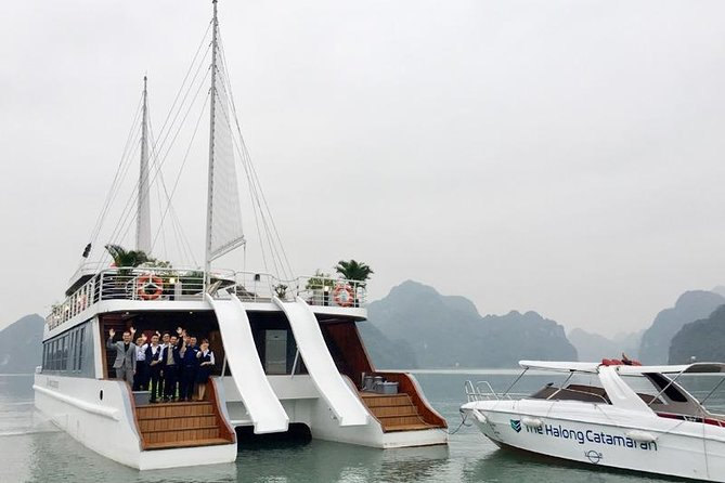 Luxury Catamaran FULL DAY Lan Ha Bay and Halong Bay All-Inclusive