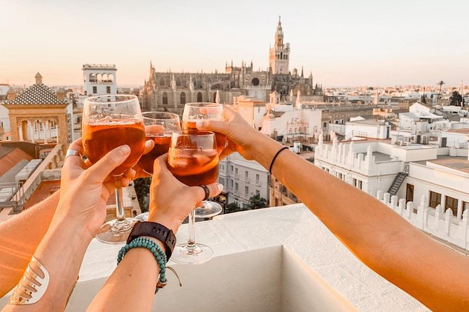 Cooking Paella on a Rooftop with Cathedral views