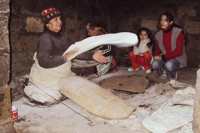 Trip to Armenian alphabet monumet, Echmiatzin and lavash baking in Aknashen