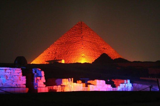 Evening Sound & Light Show at Giza Pyramids