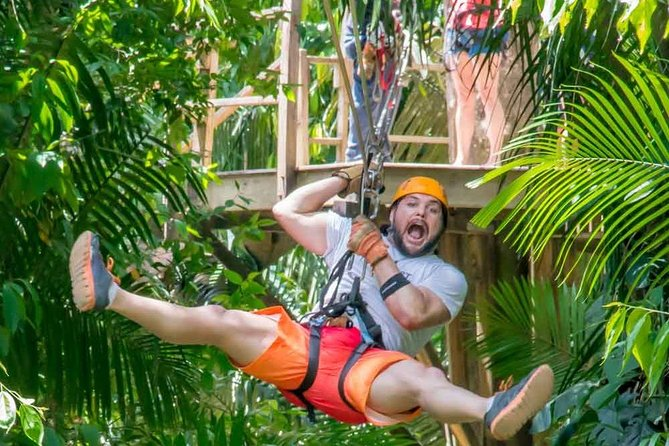 Cave tubing and ziplining from Belize City