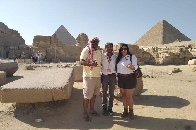 Full day-tour to Giza pyramids Sakkara step pyramid and Memphis old city