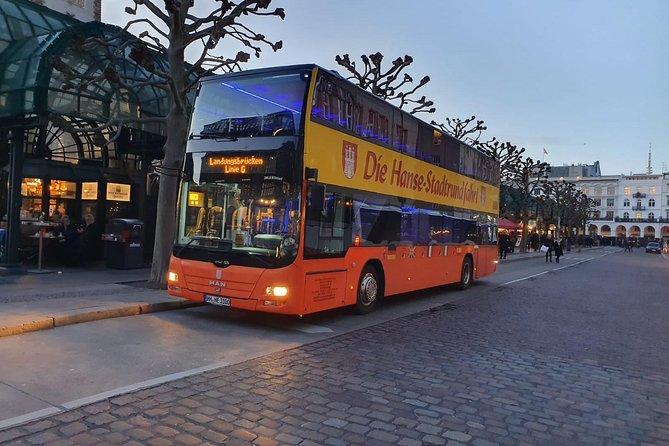 City tour of Hamburg in a double-decker bus Hopp on / Hopp off day ticket