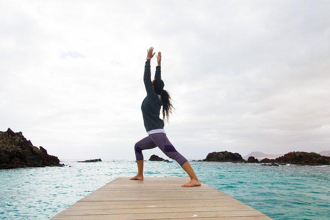 Yoga at Lobos Island from Corralejo, Fuerteventura