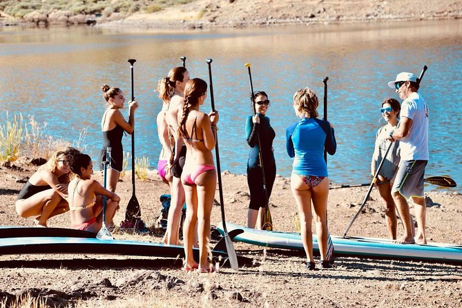 Introduction to paddle surfing course on the beaches of southern Gran Canaria