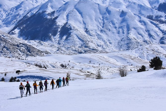 snow shoeing in Holy mount of Tomor
