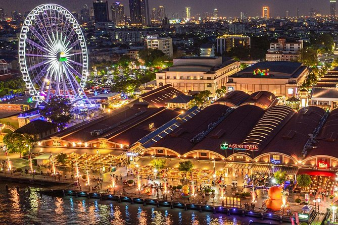 Bangkok city tour with boat cruise along the river to Asiatique night trip