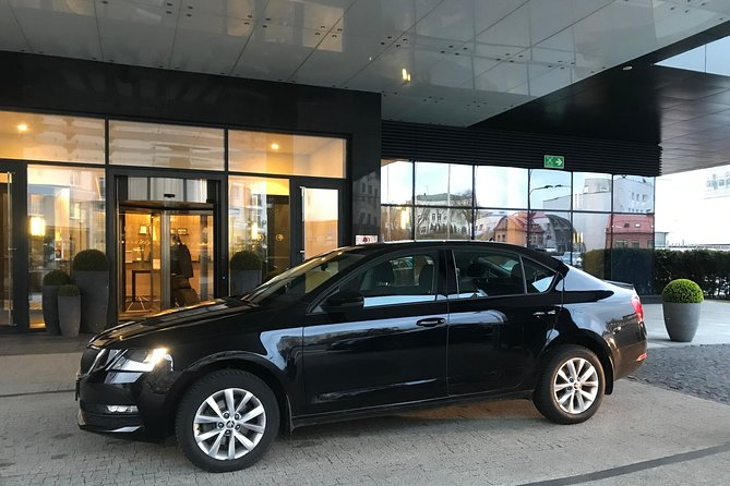 Skoda Octavia 2019 year for private departure transfer from Minsk city to Minsk airport