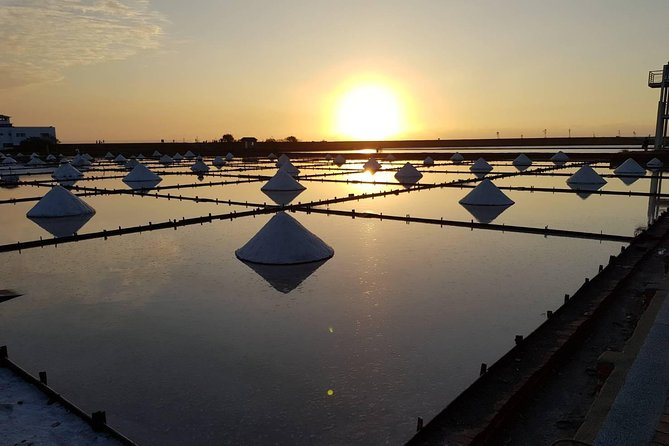 Jingzaijiao Tile-paved Salt Fields sunset