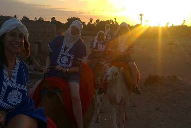 Ride Camels in Marrakech palm groves