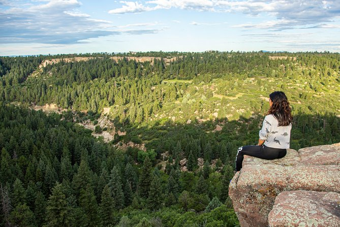 Sitting on the cliffs at Castlewood Canyon