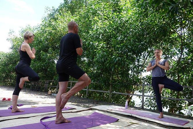 Yoga & Meditation by the lake in Phong Nha countryside