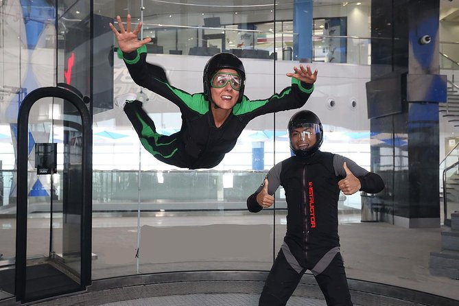 Dubai's Largest Indoor Skydive 4 flights with 2 way Transfer