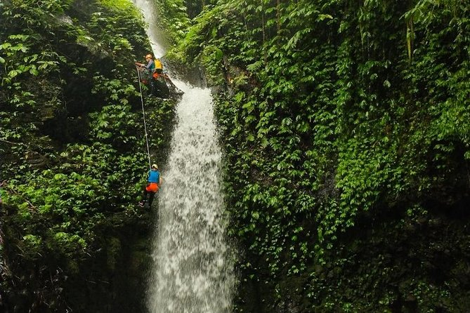 "Intermediate canyoning trip in Bali "" Samba canyon """