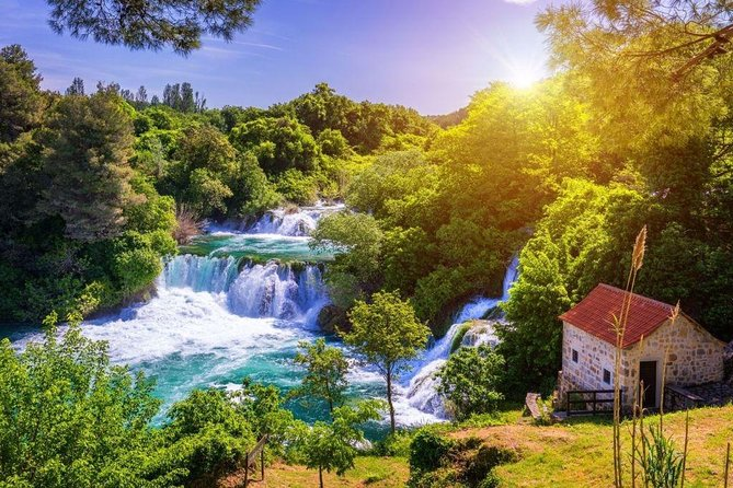 Private day trip National Park Krka Waterfalls and Sightseeing of Sibenik