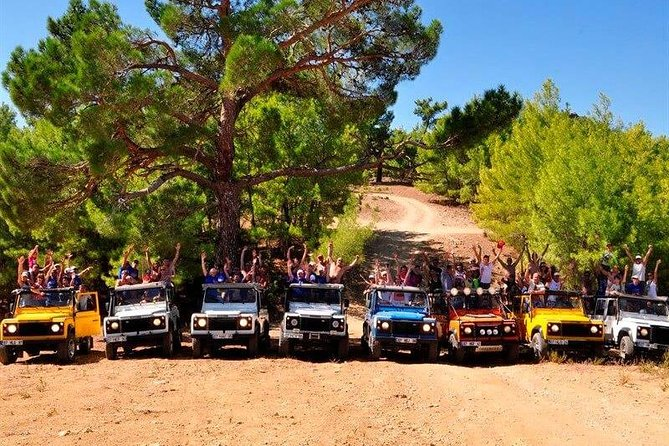 Track and Jeep safari, Jet boat and Zipline, Rafting combined tour from Antalya