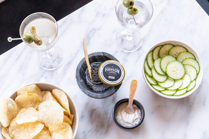 Hanson Vodka Martini & Caviar Pairing