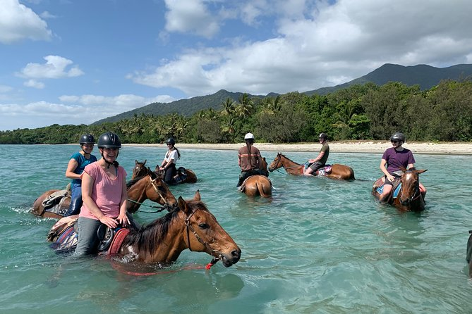 Mid-Morning Beach Horse Ride in Cape Tribulation with Pick Up