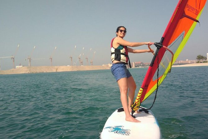 Windsurfing at the Beach of Radisson Blu Resort Sharjah