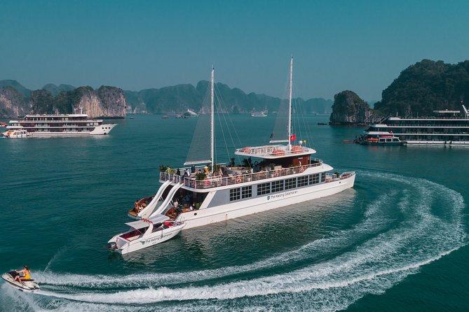 The Catamaran - Luxury Full Day Cruise into Ha Long & Lan Ha Bay