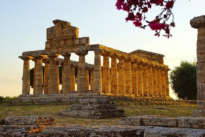 Mozzarella cheese and Greek Temples in Paestum - From Sorrento
